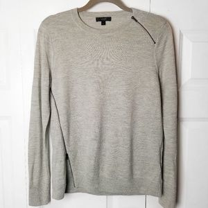 J Crew | Merino Wool A-Symmetrical Zip Sweater